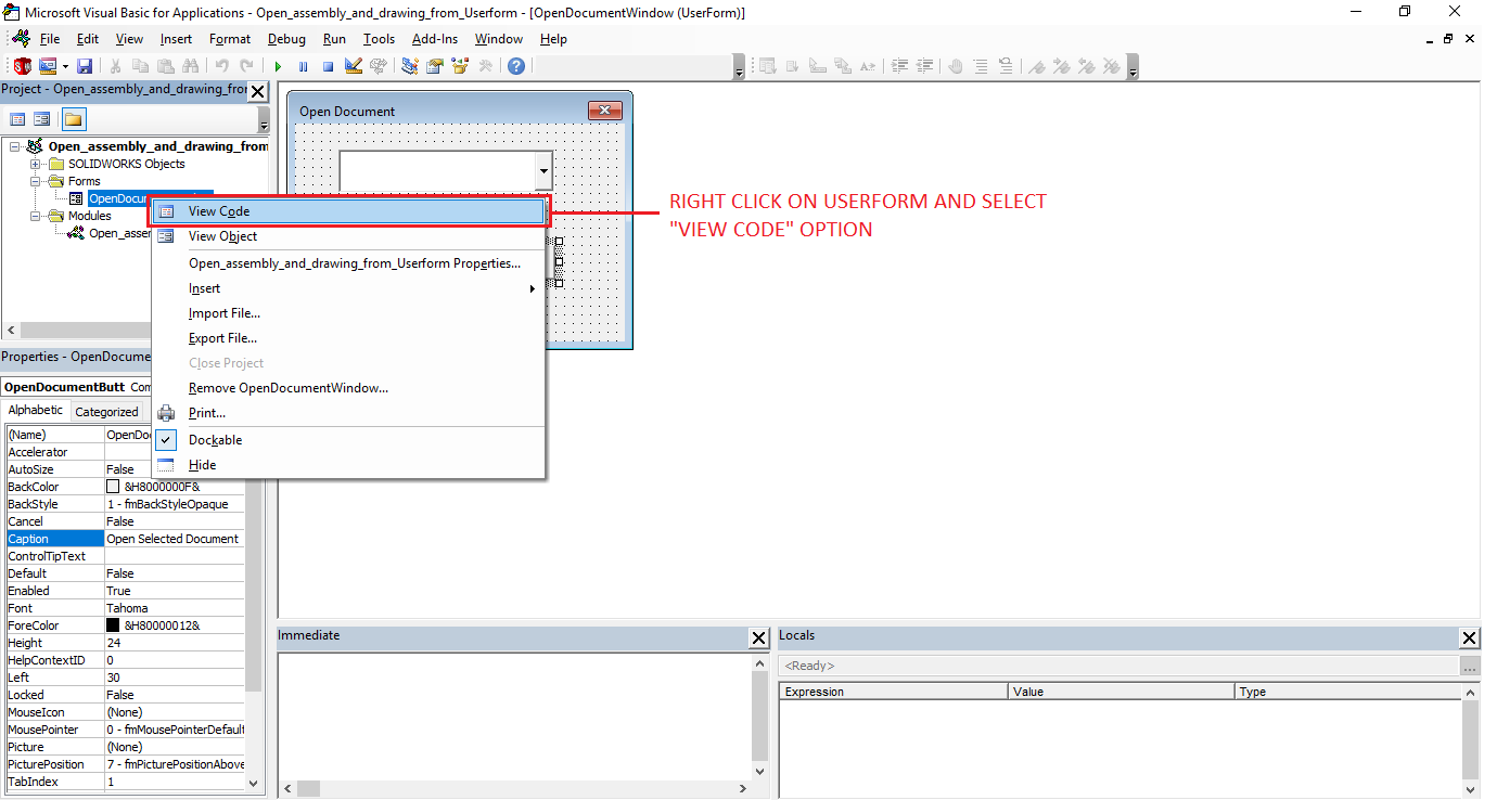 select-view-code-option