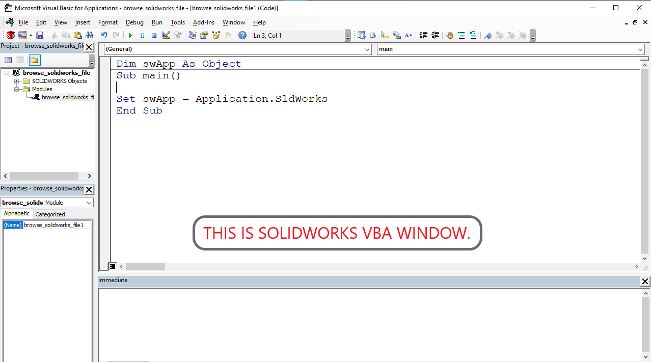 solidworks-vba-window